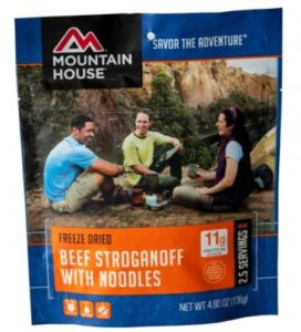 Mountain House Beef Stroganoff & Noodles – 2.5 Servings