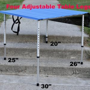 Camp Time Roll A Table Adjustable Heights